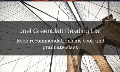Joel Greenblatt Reading List