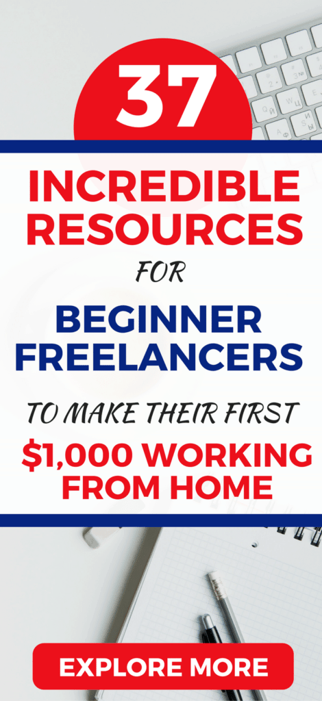37 Incredible & FREE resources for beginner freelancers. Learn it all from getting your idea, to getting your first client and start making extra money from home today.