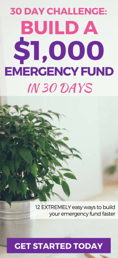 Build your emergency fund quickly. Here's 12 things you can do today to save your first $1,000 (baby step #1) in just 30 days.