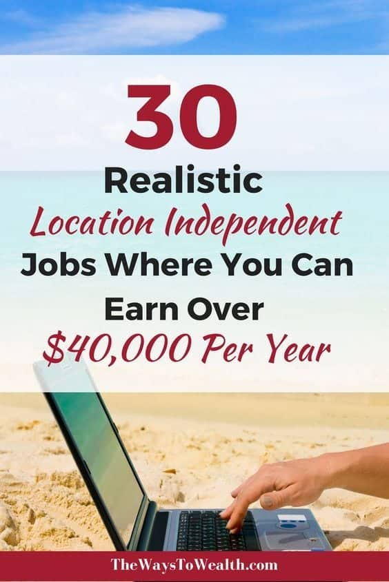 30 Legitimate online jobs where you can earn over $40,000 working from home or anywhere in then world! location independent jobs | location independent lifestyle | digital nomad jobs | how to make money traveling the world #digitalnomad #locationindependant #rvlife #travel #traveling