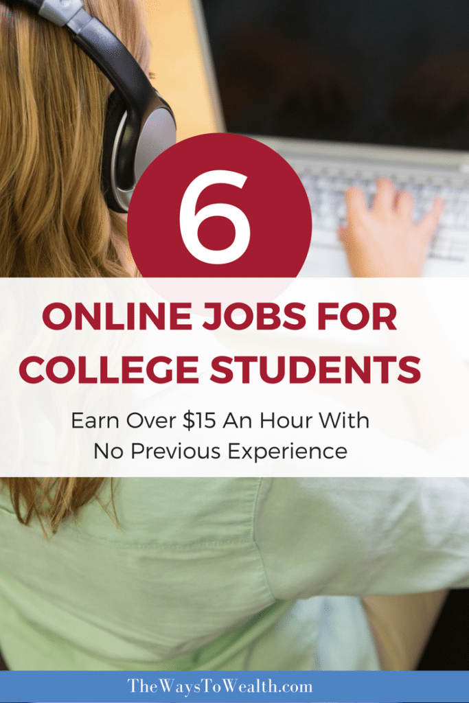 Six perfect online jobs for college students. Need a remote job with no experience or investment upfront? Consider these six possibilities.