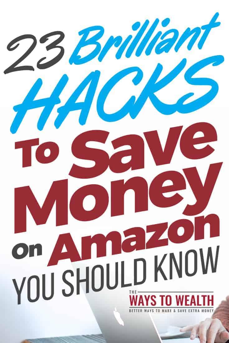 23 Brilliant Hacks To Save Money On Amazon You Should Know save money on amazon tips | amazon hacks coupon saving money | amazon hacks free stuff gift cards | amazon gift cards ideas | get amazon gift cards #thewaystowealth #amazon #amazondeals #amazongiveaway #savemoney