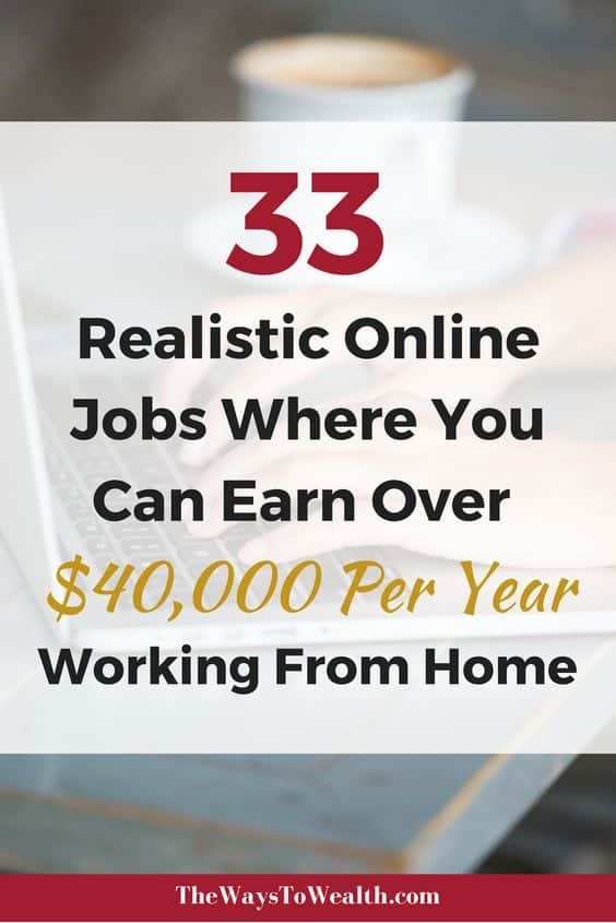33 Realistic and legit online jobs where you can earn over $40,000 working from home or anywhere in then world!work from home jobs | work from home jobs 2018 | business opportunities home based | location independent jobs | location independent business#workfromhomejobs #workfromhomejobsforbeginners #makemoneyfromhome #makemoneyonline
