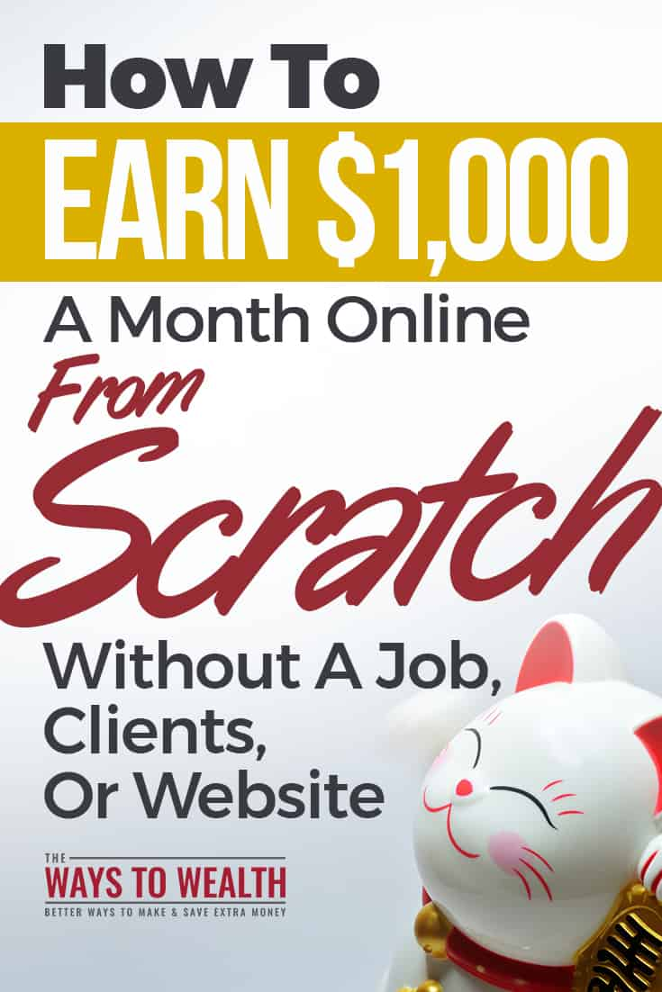 How To Earn $1,000 A Month ONLINE From Scratch Without A Job, Clients, Or Websitemake money online fast at home | make money online legit ways | quick ways to make money internet | fast cash ideas at home#thewaystowealth #surveysites #onlinesurveys #makemoneyonline