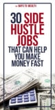 30 Side Hustle Jobs That Can Make You Money Fast