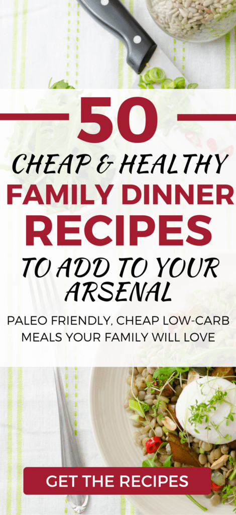 MUST TRY. 50 paleo-friendly, cheap healthy dinner ideas. A list of budget-friendly recipes, you'll family will love.