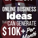 27 Legit Online Business Ideas That Can Generate $10+ Per Month side hustle ideas | business ideas entrepreneur | make money from home ideas extra cash | ways to make money at home | start a business with no money #sidehustle #sideincome #business
