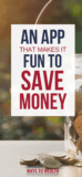 Pinterest image: App Makes It Fun To Save Money