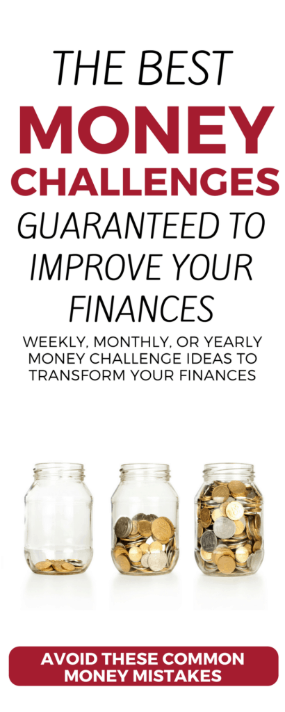 Looking to improve your finances? Check out these weekly, 30-day, and 52-week money saving challenges and money making challenges. Build an emergency fund, get out of debt, earn money on the side—use these ideas, printables, and worksheets to transform your financial future! money challenges | printable | money worksheets | money management | money challenge 30 days | money challenge 52 week | money challenge ideas | #challengeaccepted #52weekchallenge #personalfinance #organizedhome