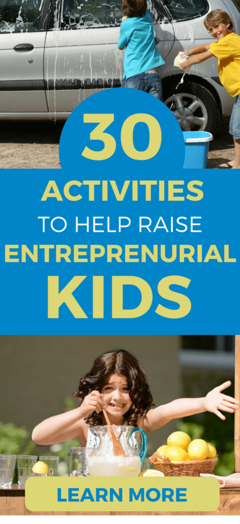 Fun activities and business ideas for kids, to help raise them as entrepreneurs.