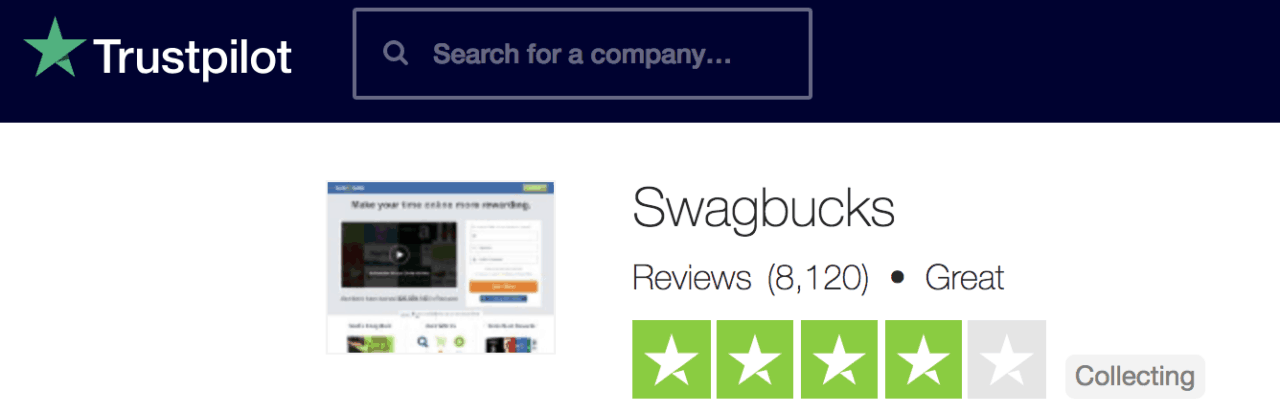 Swagbucks Review Trust Pilot