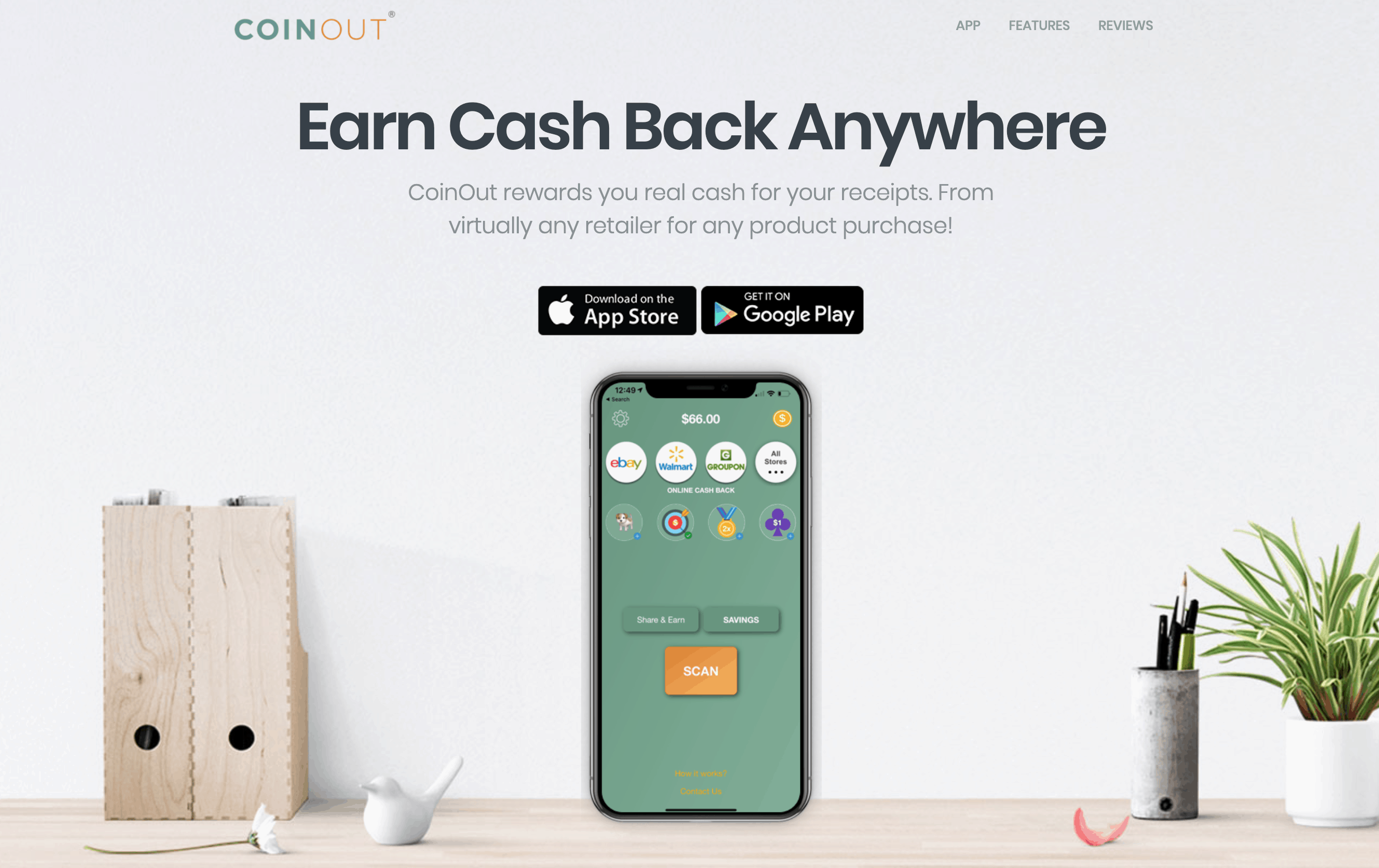 CoinOut Home Page