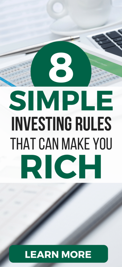 Discover the 10 SIMPLE rules for investing in the stock market. Even if you're a beginner or in your 20's, follow these tips for making money through investing.