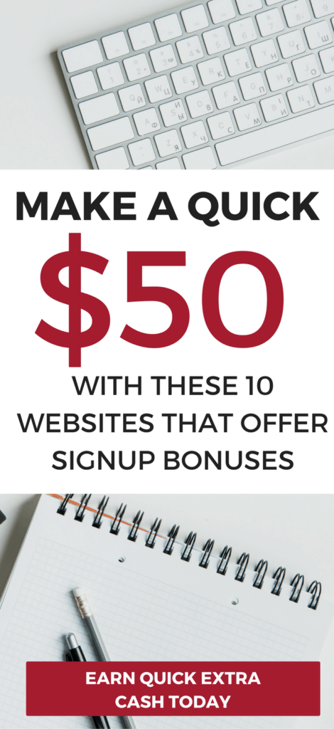 Make a quick $50 dollars with these 10 legit get paid to sign up websites. Make extra money fast with these websites offering bonuses.make money fast | make money online | extra cash | extra cash from home | make extra money fast#makemoney #makemoneyfast #makemoneyonline