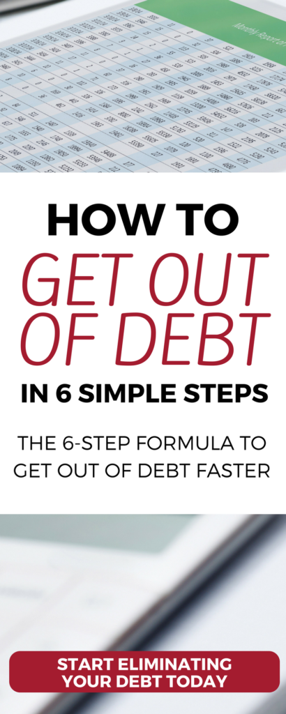 Want to get out of debt? Check out these powerful tips, tools, and strategies for eliminating debt quickly. From worksheets, calculators, and printables—use these free resources and simple 6-step formula for getting out of all types of debt (from credit cards, to student loans, to car loans.