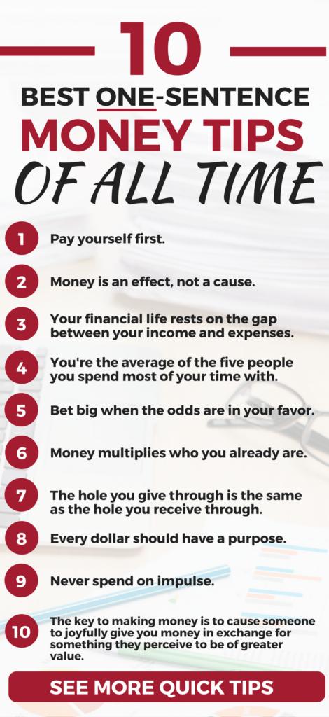 The BEST financial wisdom I've ever read or heard. Best Personal Finance Tips I financial tips l budget l finance strategies l investment l money making l money saving   hacks