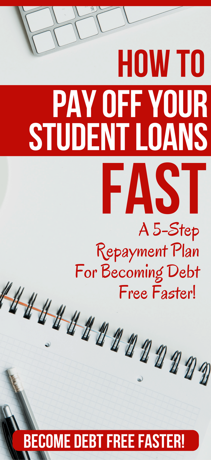How to Pay Off Student Loans Fast in 2018   5 POWERFUL tips for paying off your student loans faster. Get out of debt faster, with this 5 step plan that works on any income.  student loans paying off | paying off student loans | paying off student loans tips | paying off student loans fast | pay off student loans  #debt #debtfree #studentloans #studentloan