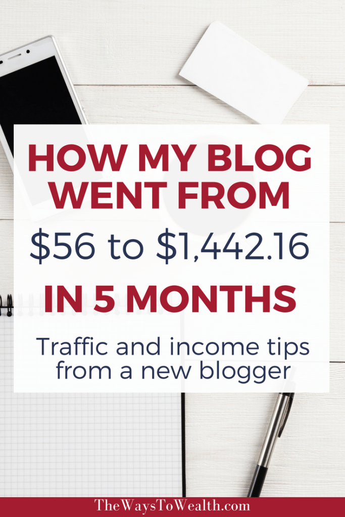 Discover how I made $1,442.16 with a blog that's less than a year's old. Plus, see my best traffic tips for increasing my income from my blog.