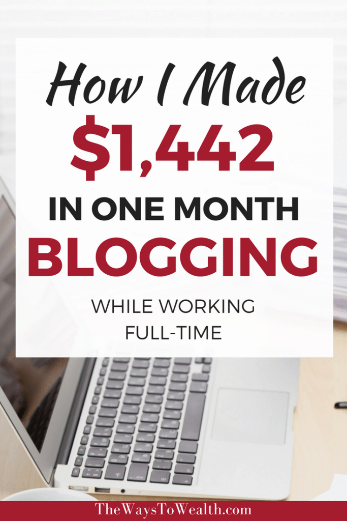 Blog Income Report: Discover how I was able to make money blogging, while working full time.