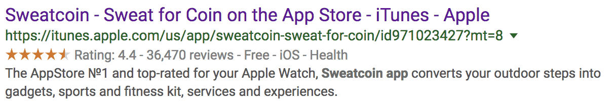 sweatcoin google reviews screenshot