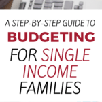Discover the secrets to budgeting on one income. This step-by-step budgeting process for single income families can help your family live a meaningful and frugal life.
