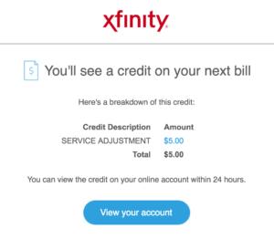 Xfinity Bill