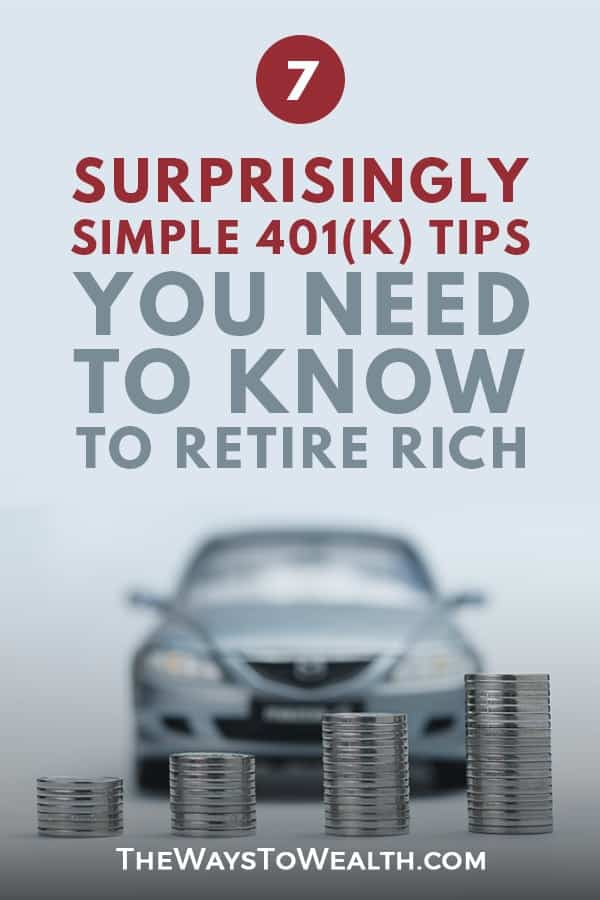 7 Surprisingly Simple 401(k) Tips You Need to Know to Retire Rich  investing for beginners   investing in your 20s   investing in your 20s   401k for beginners   401k tips retirement  #401k #financialindependence #money #moneymanagement