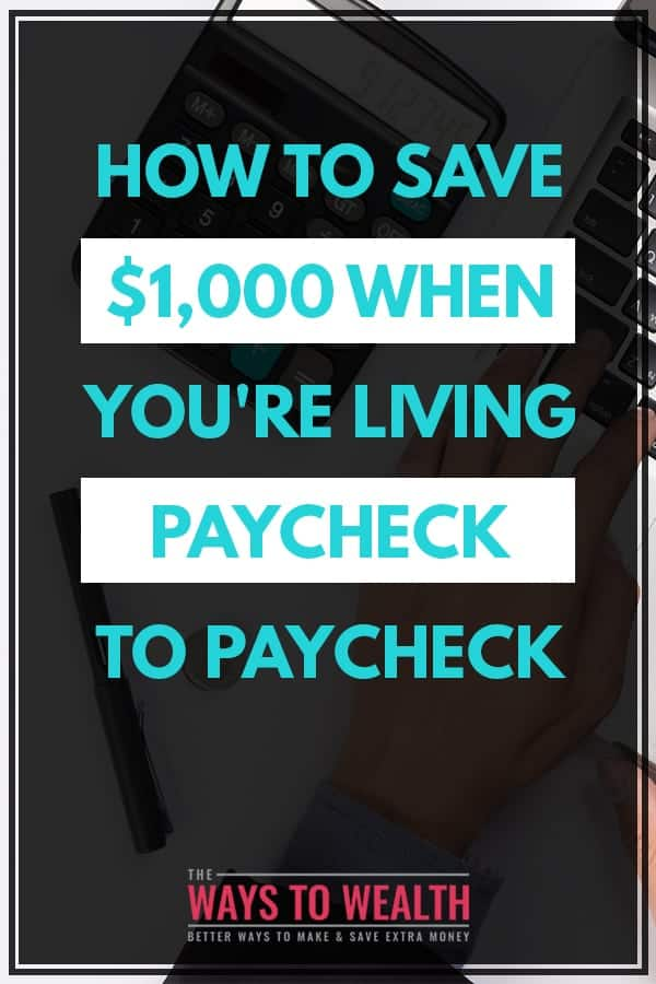 How to Save $1,000 This Month When You're Living Paycheck to Paycheck  saving money on a tight budget | how to save money on a low income | 30 day challenge | ways to save money frugal living  #savemoney #moneymanagement #debtfree