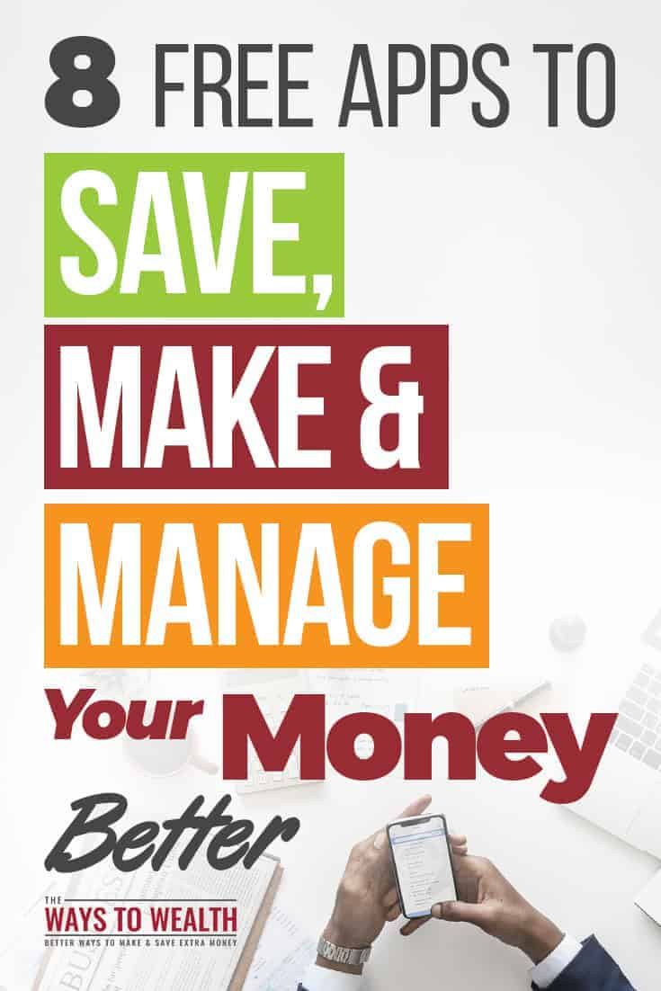 8 Free Apps To Save, Make, And Manage Your Money Better money management apps smartphone | personal finance apps | best budgeting apps free #thewaystowealth #moneymanagement #moneytips #apps