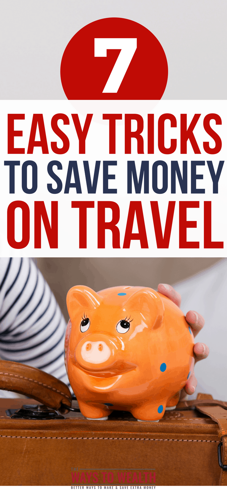 7 Easy Tricks To Save Money On Travel Discover the secrets to the cheapest way to travel. Use these seven tips to save hundreds off of your next vacation. budget travel tips | budget travel tips | cheapest way to travel | save money when traveling #travel #traveling #budgettravel