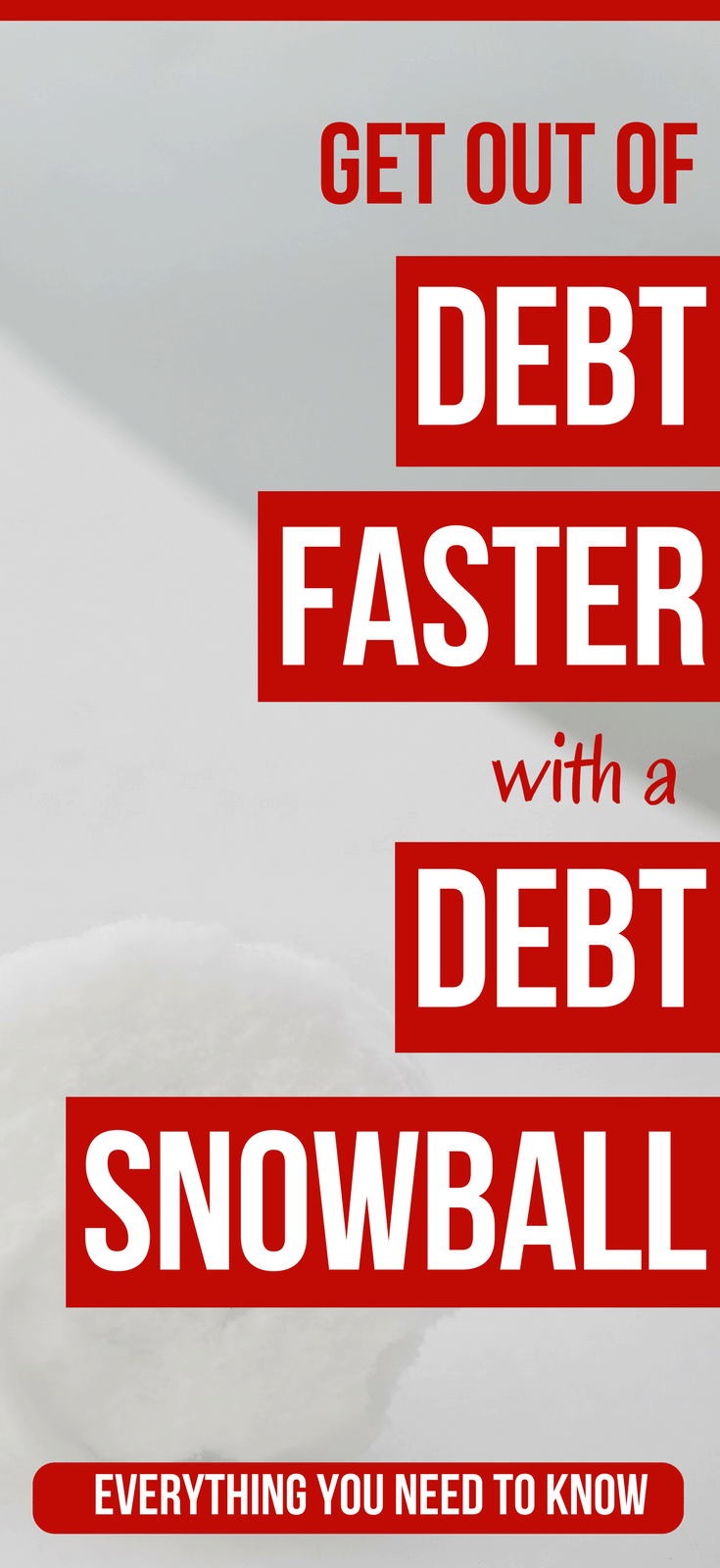 The Debt Snowball Method Explained: A Quick-Start Guide  Pay off your debt faster with the debt snowball method. Here's everything you need to know to get started right now.   debt snowball method dave ramsey | how to get out of debt with a debt snowball | debt snowball motivation tips  #thewaystowealth #debt #debtfree #daveramsey
