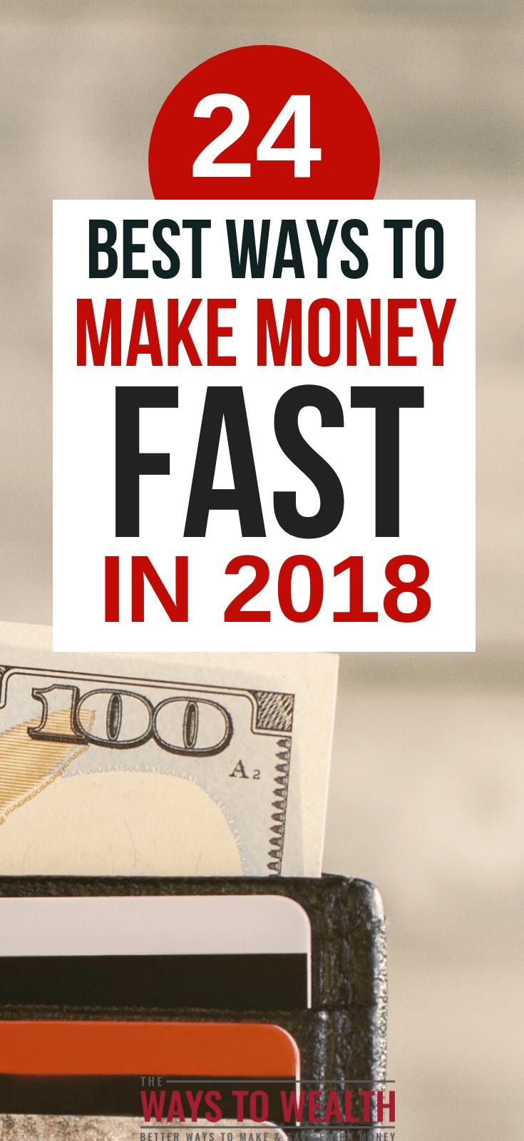 24+ Safe, Creative, & Fast Ways To Get Money FastNeed money fast? Here's more than 20 safe and creative ways to get money in a hurry.#thewaystowealth #makemoneyfast #makemoney #makemoneyonline