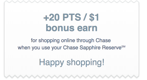 Chase Saphire Reserve Bonus