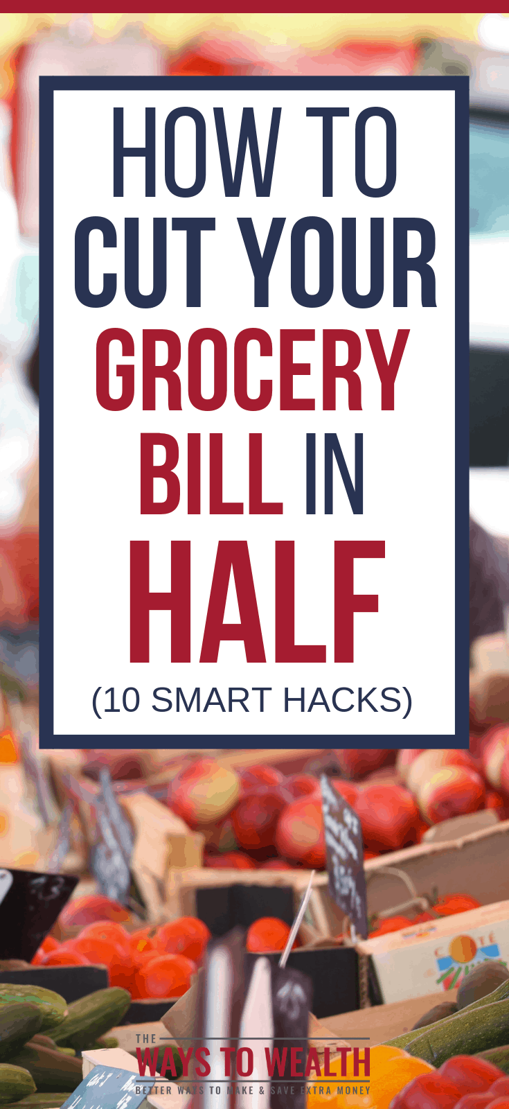 How To Save Money On GroceriesDiscover the 10 best ways for how to save money on groceries. You can cut your grocery bill in half with ten simple tips.#savemoney #thewaystowealth #groceries #frugal #frugalliving #frugalmeals