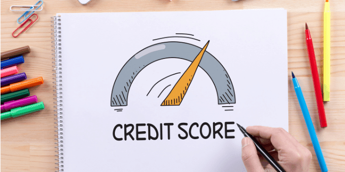 credit score drawing moving up