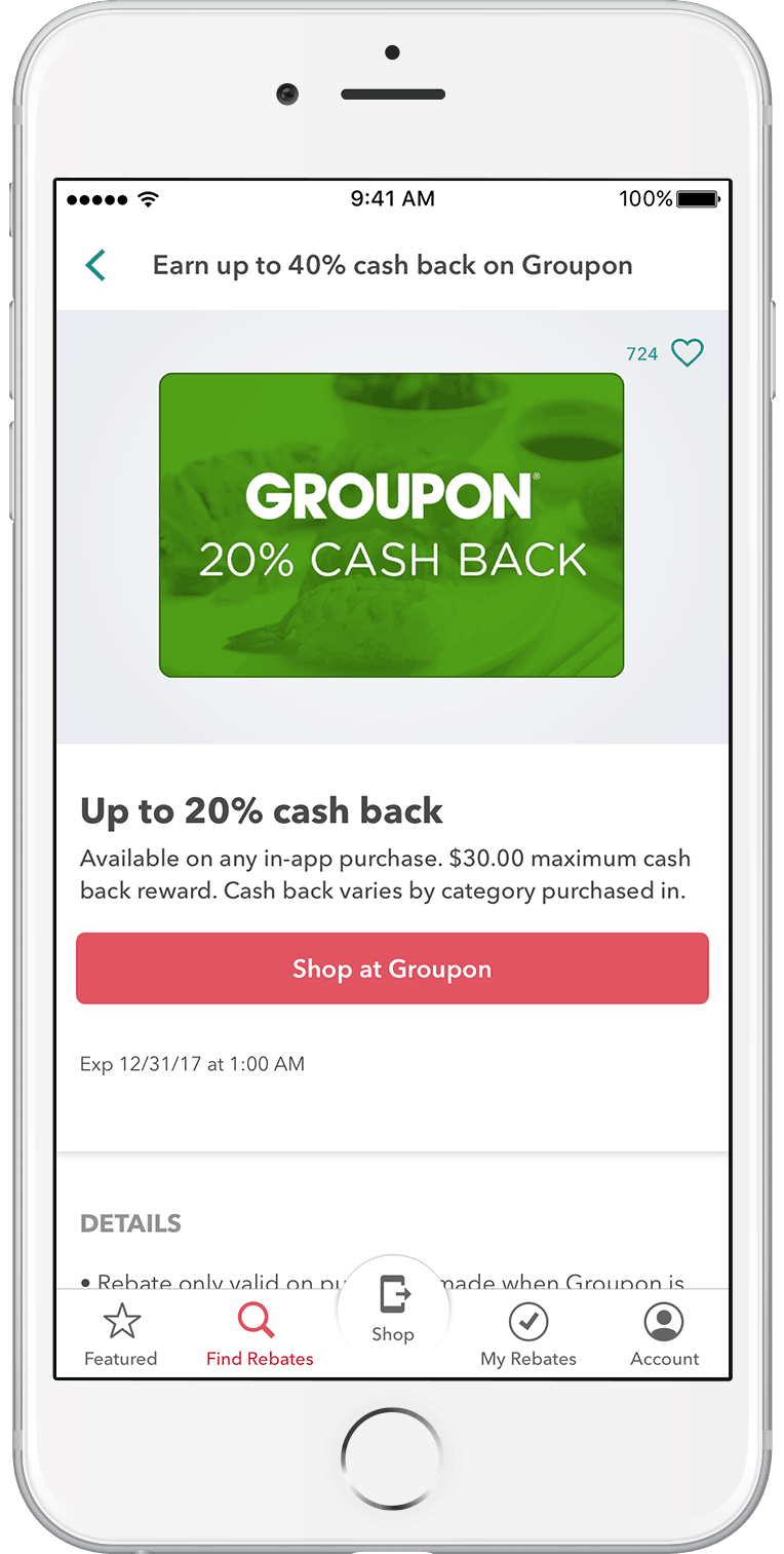 Ibotta Mobile App to App Purchases with Groupon