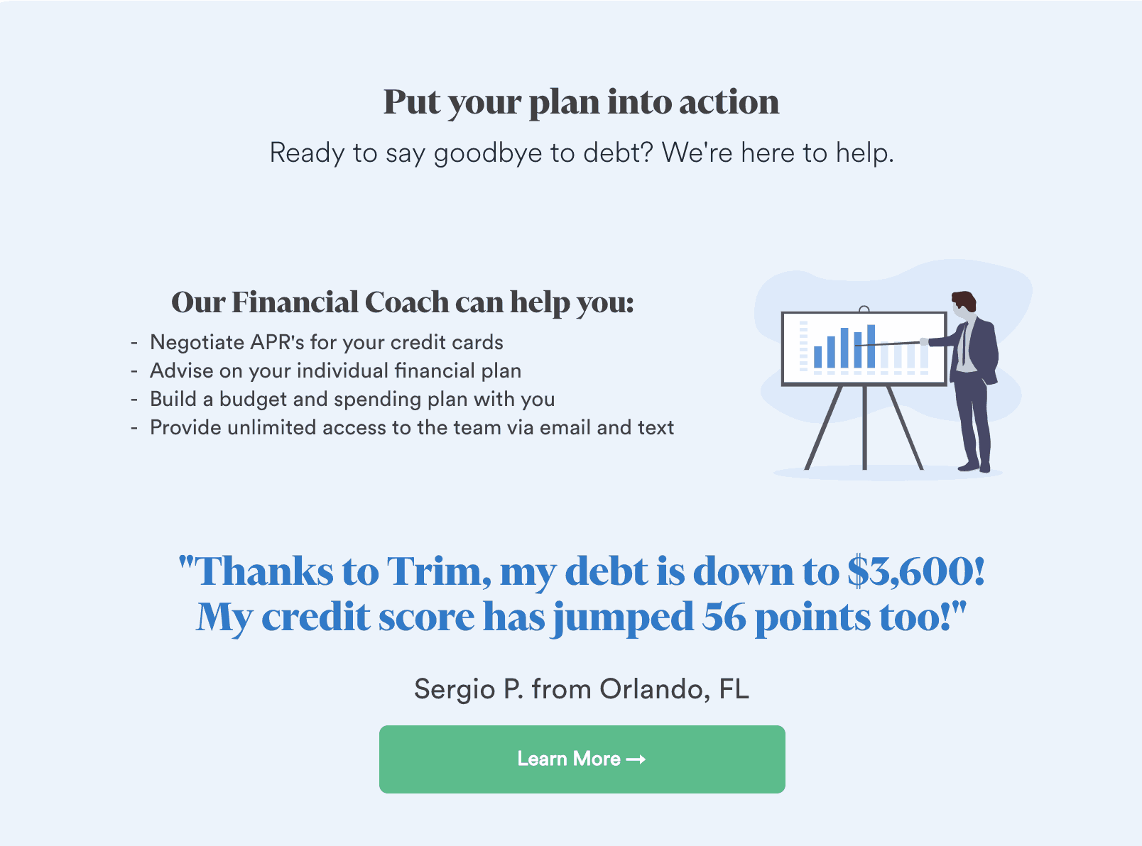 Trim Review - Put Your Plan Into Action