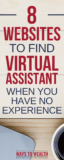 Pinterest: 8 Webest To Find Virtual Assistant Jobs When You Have No Experience