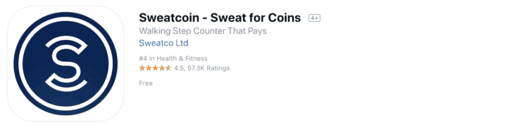 sweatcoin reviews screenshot of app