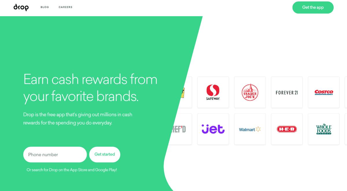 Drop Rewards home page