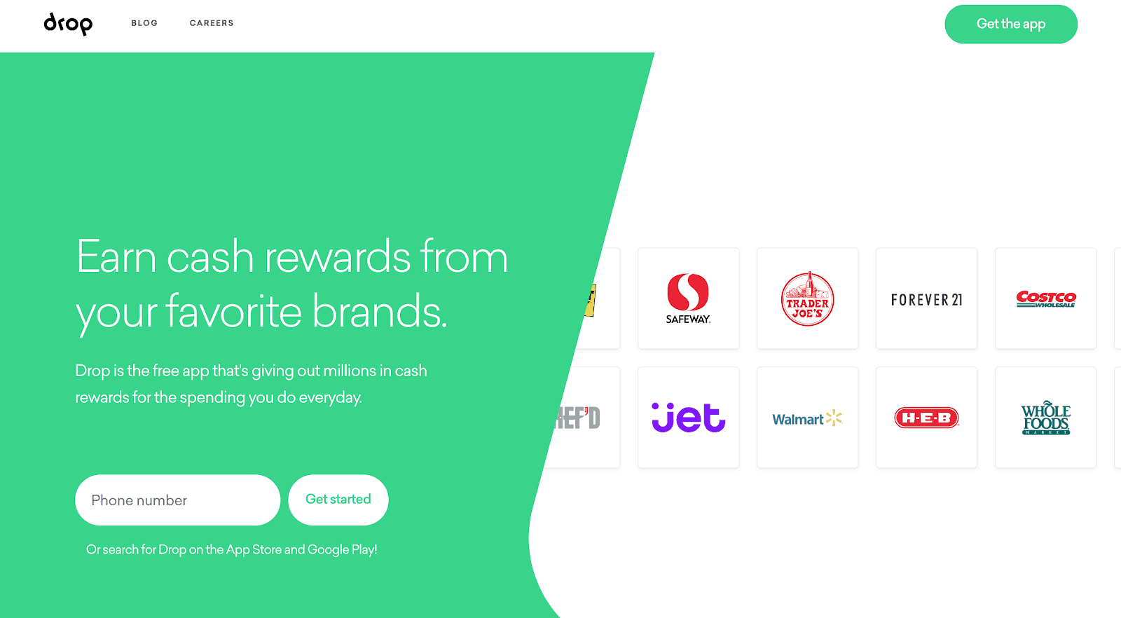 Save money with Drop Rewards