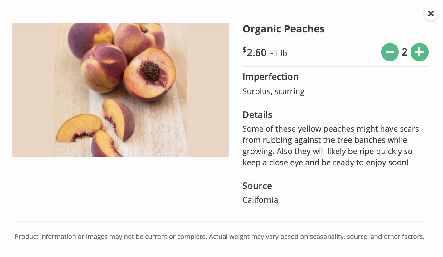 Imperfect Produce Inclusion Reason