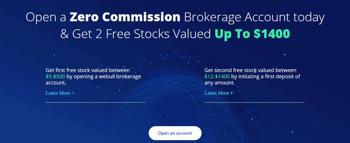Webull Free Stock Offer