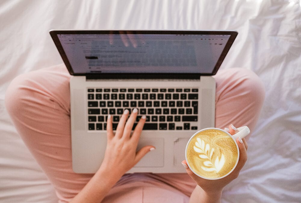 Working from Home with Coffee