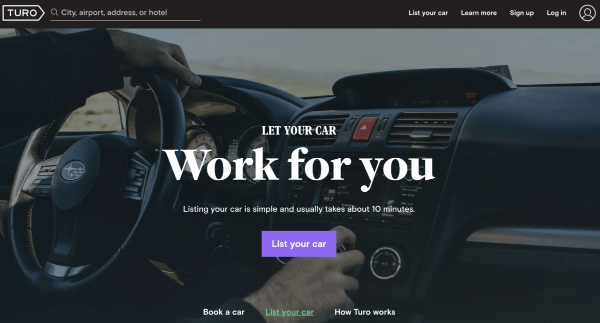 Turo - Put your car to work for you