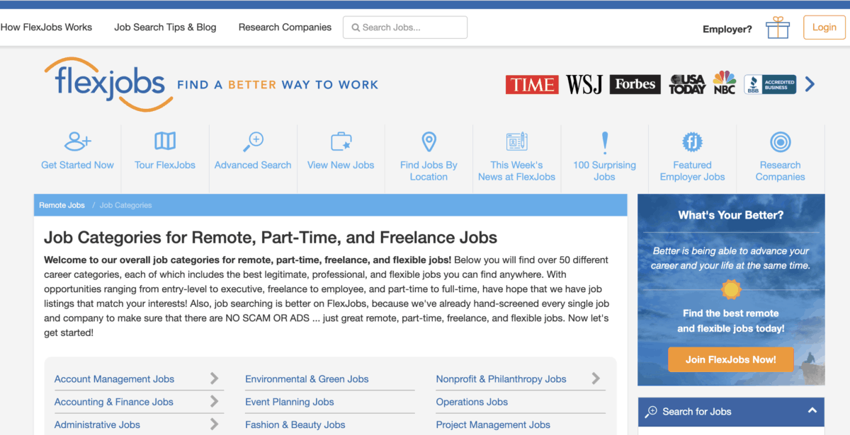 FlexJobs - Find legit remote work from home opportunities