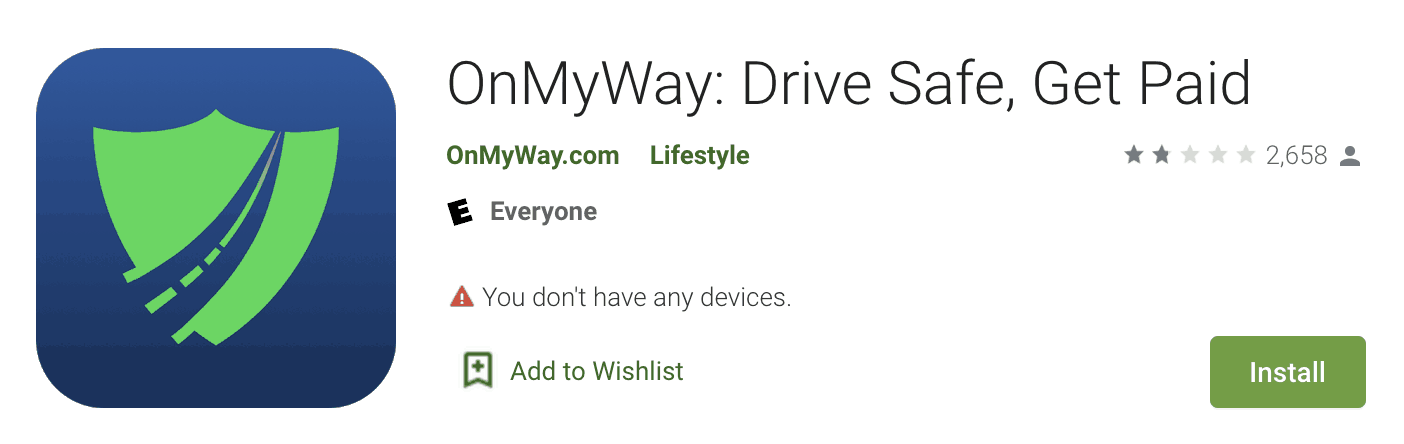 OnMyWay - Drive Safe, Get Paid
