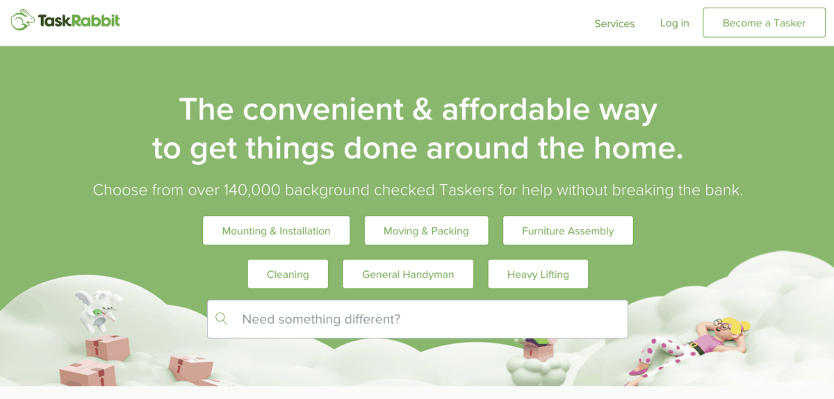 TaskRabbit - Find smalls jobs you can do for solid hourly and fixed rates