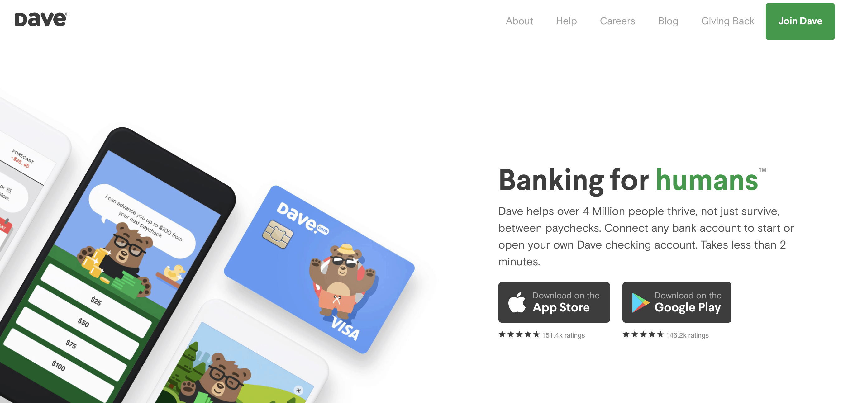 Dave Banking Home Page