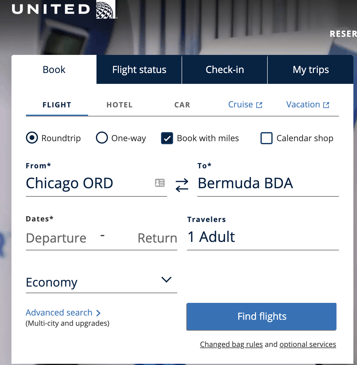 United - Pay With Miles